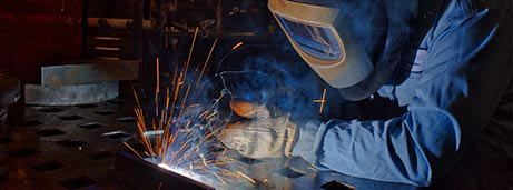 person welding